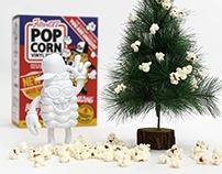 Filter017 X 909 TOY - POP CORN Vinyl Toy – X'mas Limite