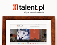 Talent.pl redesign , art portal