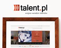 Talent.pl redesign , art portal