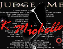 K Michelle New Single Judge Me design by Felicia Baker
