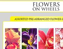 E-Commerce Design - Flower on Wheels