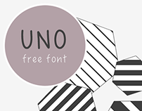 UNO- free handwriting font