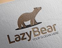 Lazy Bear Logo Design Template