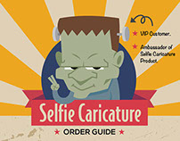 Infographic design for Selfie Caricature Order Guide