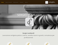 Website for a marble and stone company: Sergio Lombardi