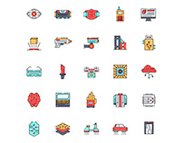 Cyberpunk Icons set
