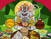 Hanuman's Big Meal