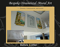 Classical mural art touch in modern private villa