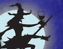 Diageo Wines Halloween Promo on Facebook