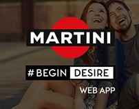 Martini #BEGINDESIRE web app