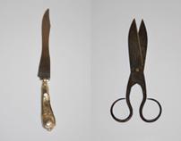 Culleres, coitelos, garfos e tixeiras