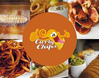 CURLY CHIPS (ulotki, naklejki, menu)