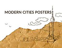 Modern cities posters | SEOUL, BUSAN, SHANGHAI