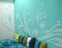 Walligraphy - series of wall paintings