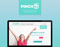PINCHme Landing Page Design