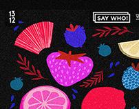 SAY WHO ! vs SAVOR - PARTY E-FLYER