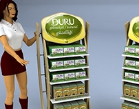 Duru product display stands