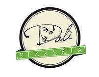 Logo design, branding, merchandising: Pizzeria Dalì
