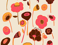 Lemon and poppies patterns collection