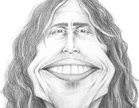 80's Rock Icon Caricatures