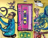 Graffiti on Cafe IPIC