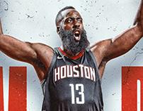 James Harden NBA MVP 2017-18 Art