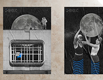 50th Anniversary of the Moon Landing / digital collages