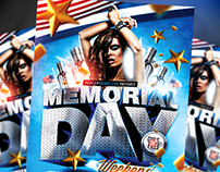 Memorial Day Weekend PSD Flyer Template (download .psd)