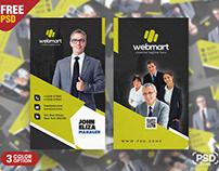 Modern Vertical Business Card PSD