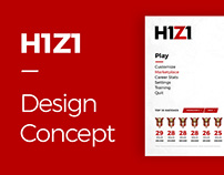 H1Z1 / Design Concept