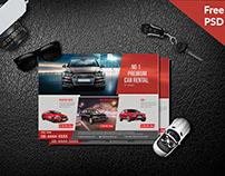 Freebies| Car Rental Service Flyer Psd