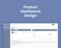 Product Dashboard Design