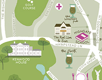 London maps for Fabric magazine