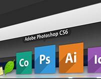 Flat Adobe CC Icons