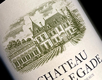 Chateau Fonplegade Labels illustrated by Steven Noble