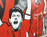 Liverpool FC Tribute Fan Wall