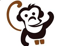 Animated monkey logo