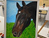 Bricole Reincke's Horse Painting