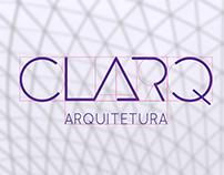 Identidade visual para a CLARQ Arquitetura.