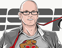 ESPN: Scott Van Pelt's SC Appearance & Illustration