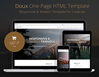 Doux - Creative One Page HTML Template