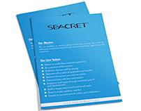 Seacret Brochure Design (Client Work)