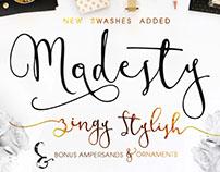 Modesty Font + Freebie Modern Calligraphy Script