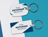 Free Keychain / Key Ring Mock-up PSD Files