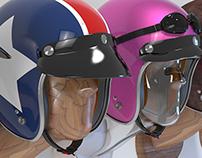 Retro Helmet Collection