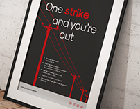 One strike and you're out | Poster Design