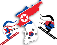 illustration for north and south korea