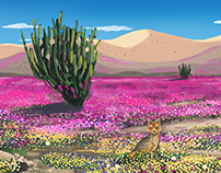Illustration Desierto Florido - Cover Magazine