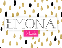 Emona - 3 fonts bundle