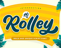 Hi Rolley - Retro Script Font